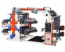 Four-color flexo printing machine