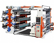 Six-color flexo printing machine
